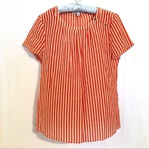 BANANA REPUBLIC Striped Silk Top Blouse Shirt